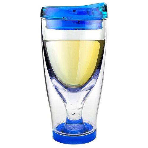 Asobu Бокал для вина Ice Vino 2go 0.48 л голубой