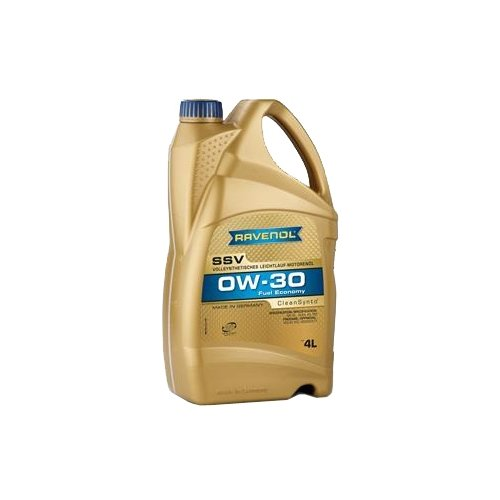 Синтетическое моторное масло Ravenol SSV SAE 0W-30, 4 л моторное масло ravenol super synthetic hydrocrack ssh sae 0w 30 4 л