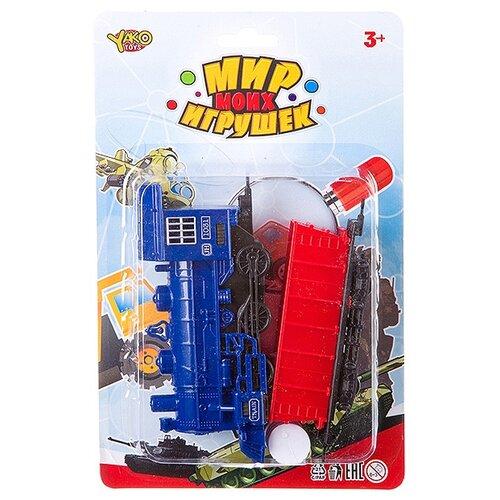 Фото - Yako Поездной состав Мир моих игрушек, В88724 набор машин yako мир моих игрушек m7558 1 белый