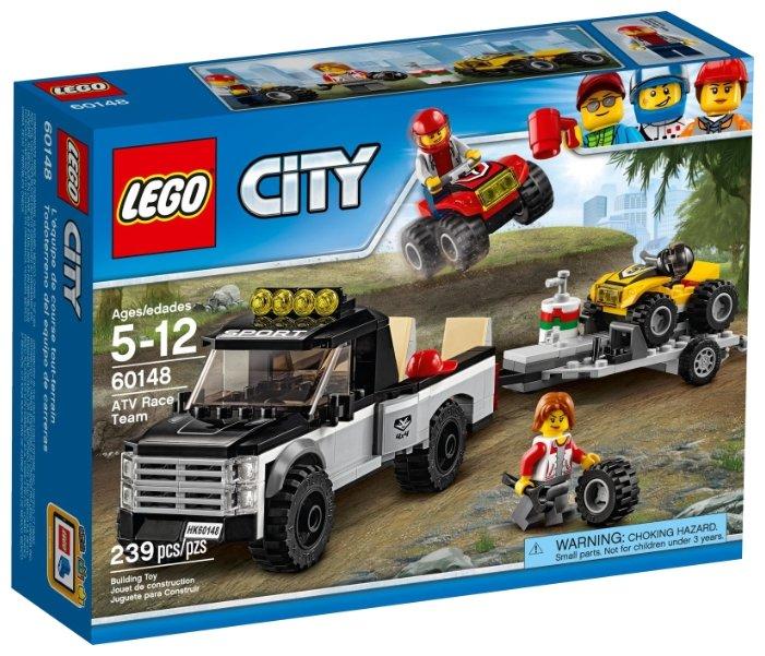 Конструктор LEGO City 60148 Гоночная команда квадроциклов
