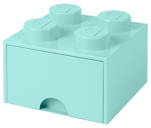 Пластиковый кубик LEGO Classic 40051731 Пластиковый кубик для хранения 4, с ящиками, синий