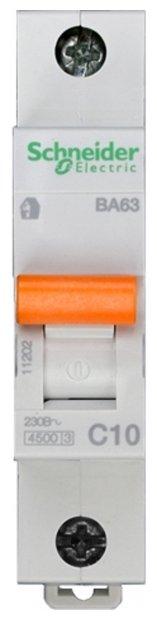 Автоматический выключатель Schneider Electric ВА63 1P (C) 4.5kA