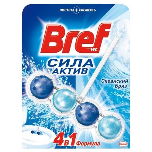 Bref туалетный блок Сила-Актив Океанский Бриз 0.05 кг 1 шт. чистящее средство для унитаза bref aquamarine aktiv океанский бриз 50 г