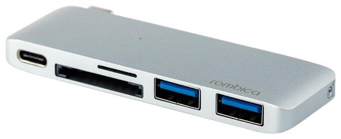 USB-концентратор Rombica Type-C M3, разъемов: 3