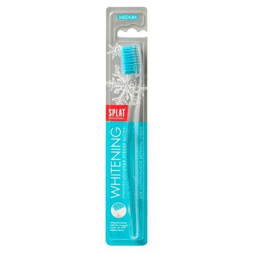 Зубная щетка SPLAT Whitening medium, голубойЗубные щетки<br>