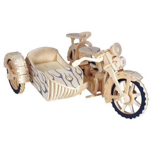 d lex деревянный конструктор мотоцикл с коляской звуковые эффекты Сборная модель Чудо-Дерево Мотоцикл с коляской (P124)