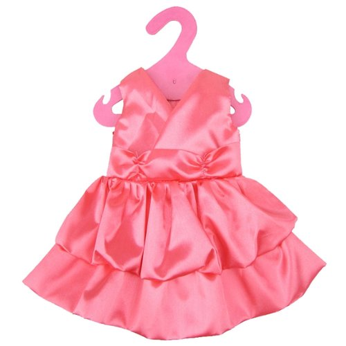 junfa toys комплект одежды для кукол blc11 белый синий Junfa toys Атласное платье для кукол My Little Baby GCM18-12 розовый