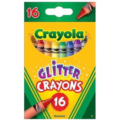 Купить Crayola Восковые мелки с блестками 16 цветов 52-3716, Пастель и мелки