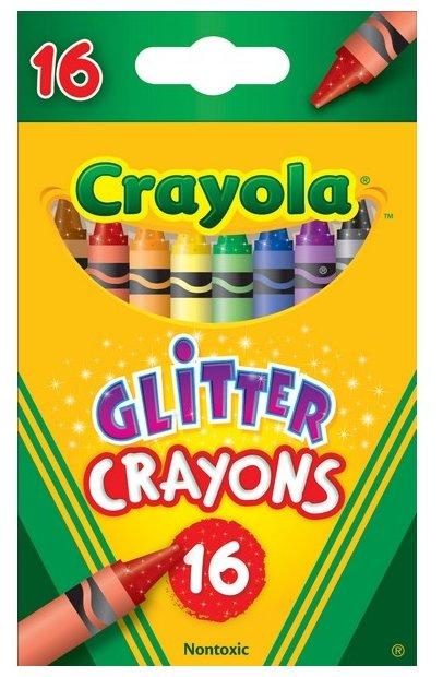 Crayola Восковые мелки с блестками 16 цветов 52-3716