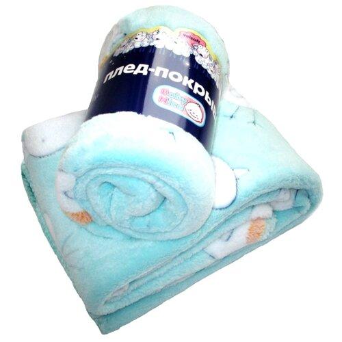 Плед Baby Nice Velsoft 75х100 см Птички, голубой плед baby elite ilona мишка голубой 120x90 см