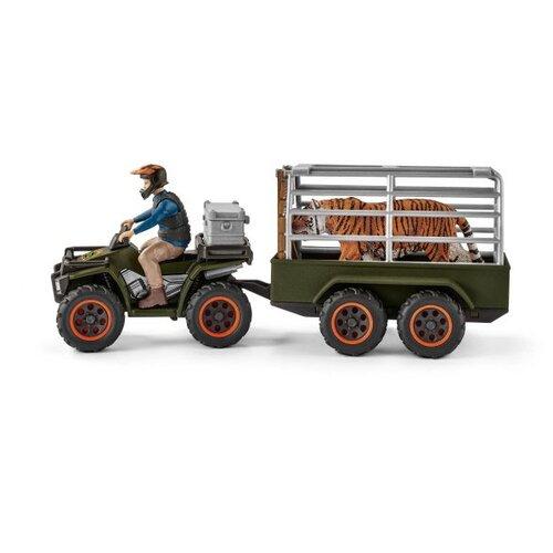 Купить Игровой набор Schleich Квадроцикл с прицепом и рейнджером 42351, Игровые наборы и фигурки