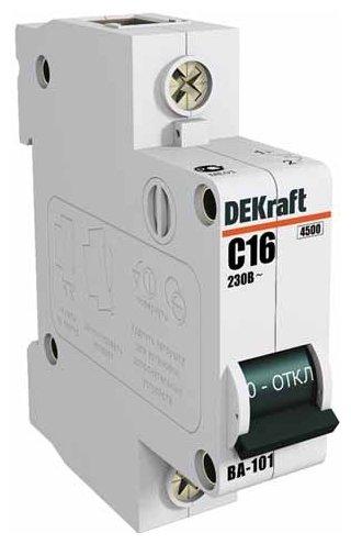 Автоматический выключатель DEKraft ВА-101 1P (C) 4,5kA