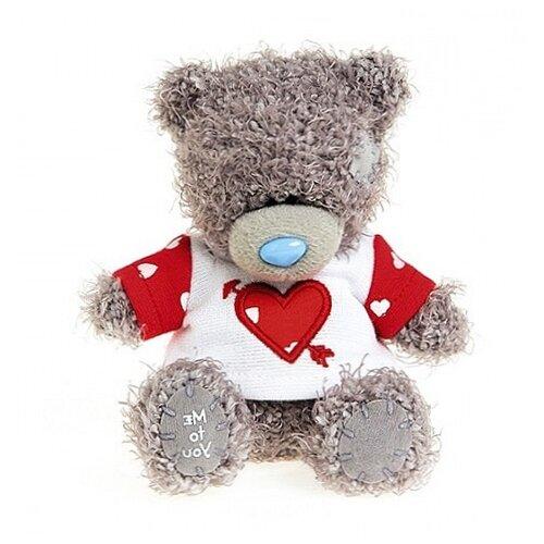 Мягкая игрушка Me to you Мишка Тедди в футболке сердце со стрелой 10 см