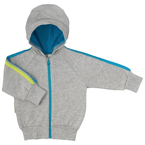 шорты для мальчика lucky child летний марафон цвет голубой 19 341 размер 86 92 Толстовка lucky child размер 28 (86-92), серый/голубой