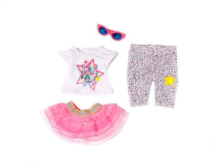 Комплект одежды с кофточкой для прогулки для куклы