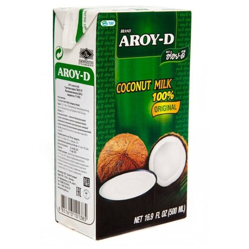 Aroy-D Молоко кокосовое, 500 мл готовый суп aroy d том ям 400 мл