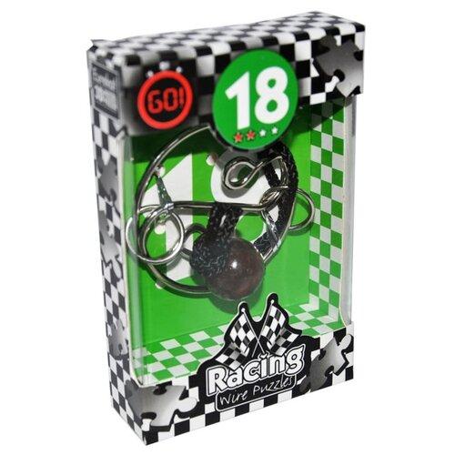 Купить Головоломка Eureka 3D Puzzle Racing Wire Puzzles 18 сложность 2 (473288) серебристый, Головоломки