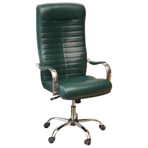 Компьютерное кресло Креслов Орион КВ-07-130112, обивка: искусственная кожа, цвет: зеленый кресло компьютерное креслов орман кв 08 130112 0453