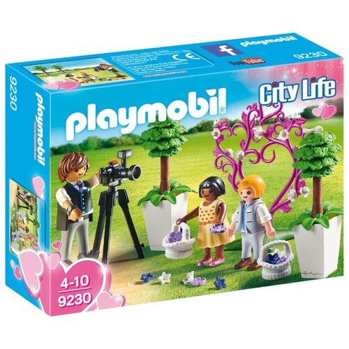 Набор с элементами конструктора Playmobil City Life 9230 Фотограф и дети с цветами набор с элементами конструктора playmobil city life 9078 шопинг торговый центр