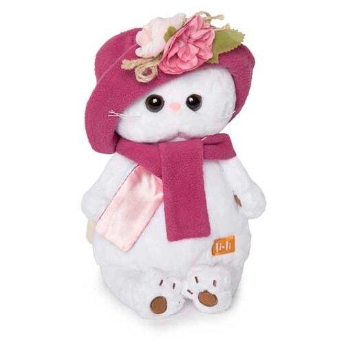 Мягкая игрушка Basik&Co Кошка Ли-Ли в панаме и шарфе 27 см
