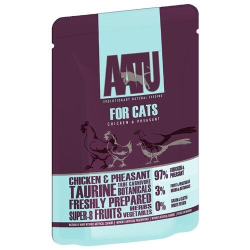 Влажный корм для кошек AATU беззерновой, с курицей 85 г