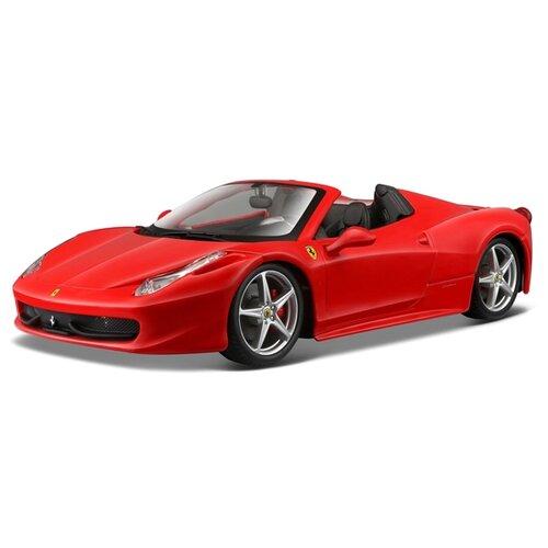 Легковой автомобиль Bburago Ferrari 458 Spider (18-26017) 1:24 18.5 см красный легковой автомобиль rastar ferrari 458 italia 47300 1 14 32 5 см красный