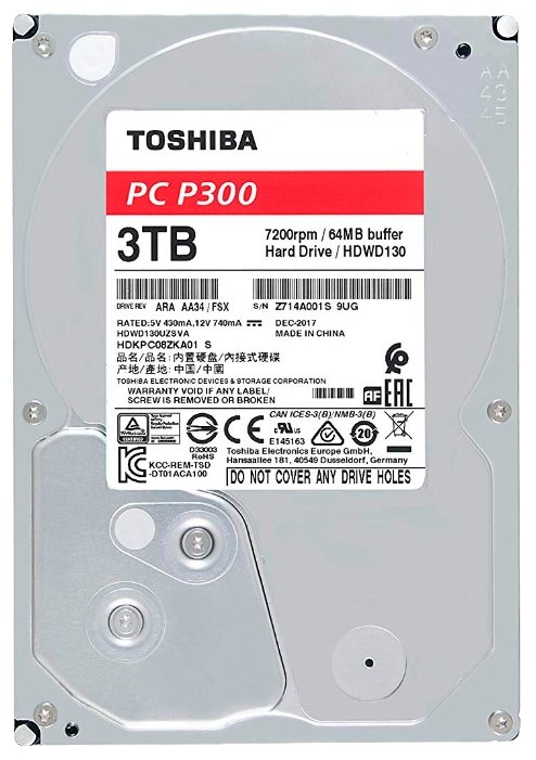 Жесткий диск Toshiba SATA-III 3Tb HDWD130UZSVA