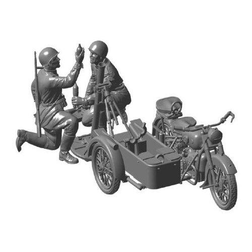 Купить Сборная модель ZVEZDA Советский мотоцикл М-72 с минометом (3651) 1:35, Сборные модели