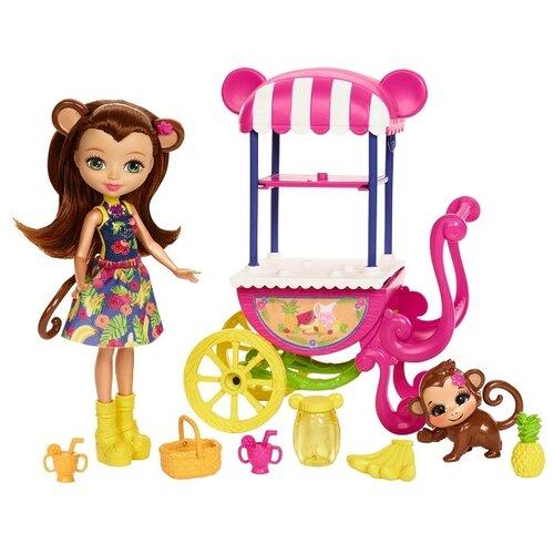 Купить Набор с куклой Enchantimals Тележка для фруктов Мерит Мартыша, 15 см, FCG93, Куклы и пупсы