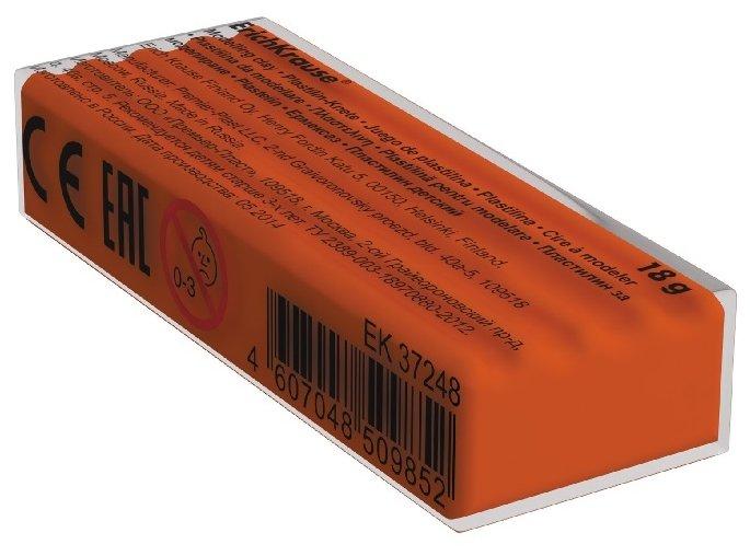 Пластилин ErichKrause Флуоресцентный оранжевый 18 г (37269)