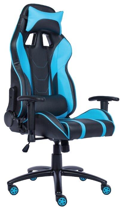 Игровое кресло Everprof Lotus S16 экокожа голубой