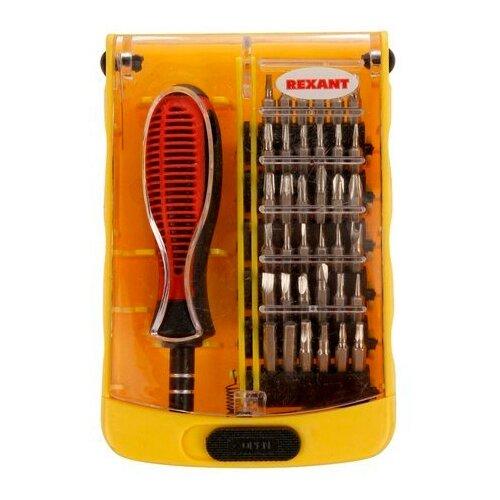 Набор инструментов для точных работ REXANT (37 предм.) 12-4702 желтый/красный набор инструментов sata 53пр для электротехнических работ 09535