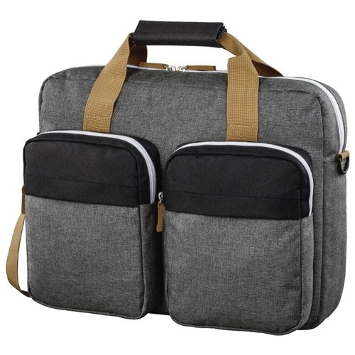 цена Сумка HAMA Florence II Notebook Bag 15.6 black/grey онлайн в 2017 году