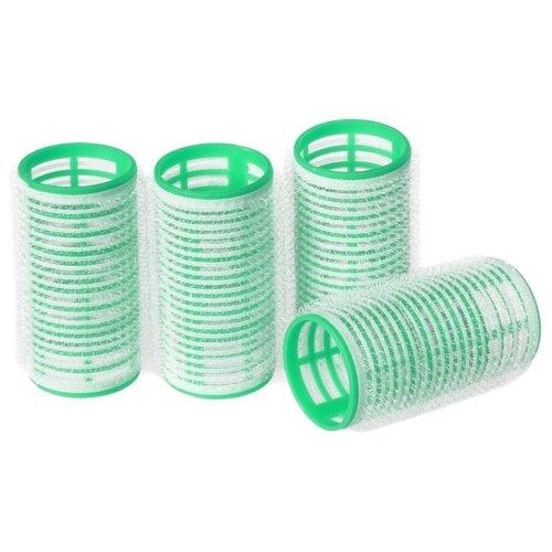 Бигуди-липучки Silva Самозахватывающие SH 414 (30 мм) белый/зеленый