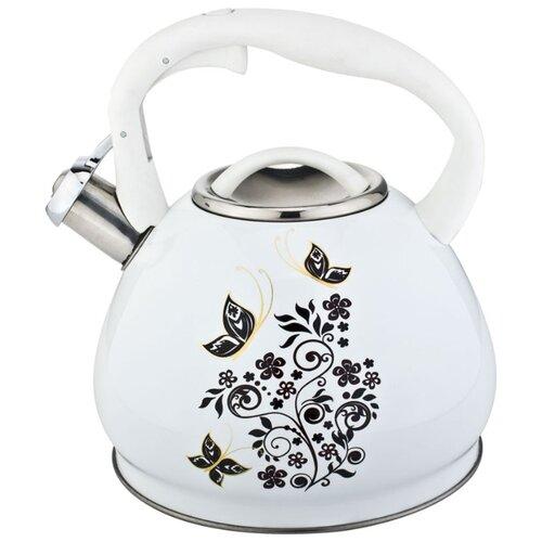 Rainstahl Чайник 7641-30RS\WK 3 л, белый/черный rainstahl чайник 7625 30rs wk 3 л стальной черный