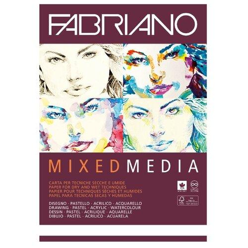 Купить Альбом для рисования Fabriano Mixed Media 42 х 29.7 см (A3), 250 г/м², 40 л., Альбомы для рисования