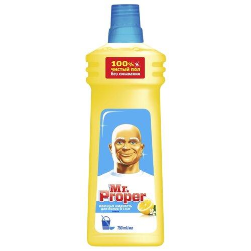 Mr. Proper Моющая жидкость для полов и стен Лимон 0.75 лДля мебели, ковров и напольных покрытий<br>