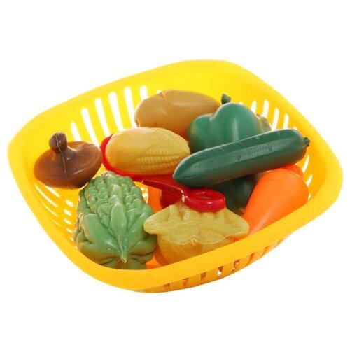 Купить Набор продуктов с посудой EstaBella Овощи 62095 разноцветный, Игрушечная еда и посуда