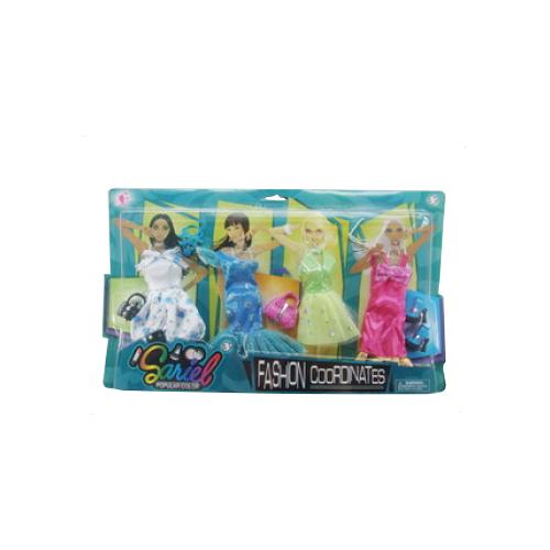 junfa toys комплект одежды для кукол blc11 белый синий Junfa toys Комплект одежды и аксессуаров для кукол 29 см 3312-A белый/синий/розовый/зеленый/желтый