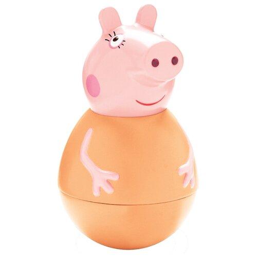 Купить Неваляшка РОСМЭН Мама Пеппы (28797) 11 см оранжевый/розовый, Неваляшки