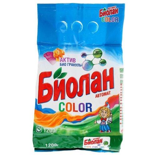 Стиральный порошок Биолан Color (автомат) 1.2 кг пластиковый пакетСтиральный порошок<br>