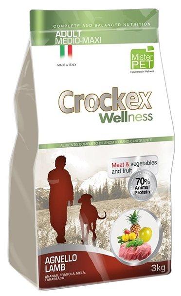 Корм для собак Crockex Wellness Adult Medio-Maxi ягненок с рисом