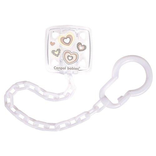 Купить Держатель пустышки Canpol Babies Newborn Baby 0 м (1 шт.) белый, Пустышки и аксессуары
