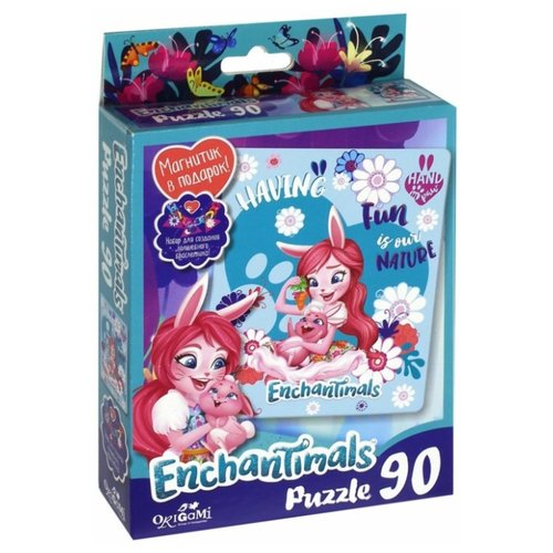 Купить Пазл Origami Enchantimals Having Fun (03549), 90 дет., Пазлы