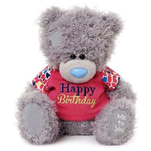 Мягкая игрушка Me to you Мишка Тедди в футболке Happy birthday 20 см, Мягкие игрушки  - купить со скидкой