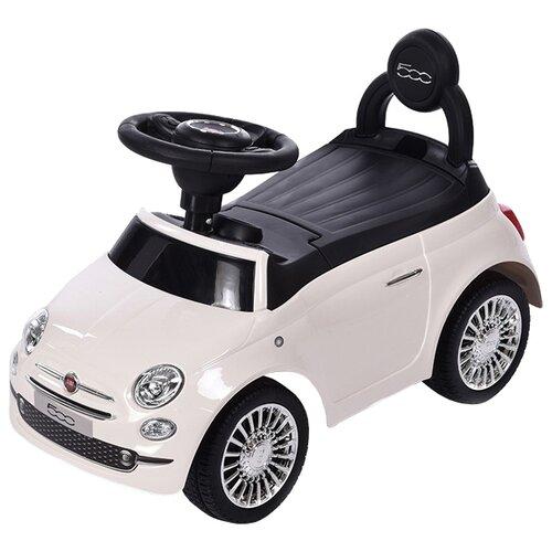 Купить Каталка-толокар Baby Care Fiat 500 (620) со звуковыми эффектами белый, Каталки и качалки