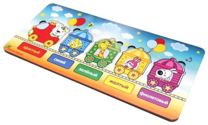 Рамка-вкладыш Мастер игрушек Паровозик (IG0098), 6 дет.