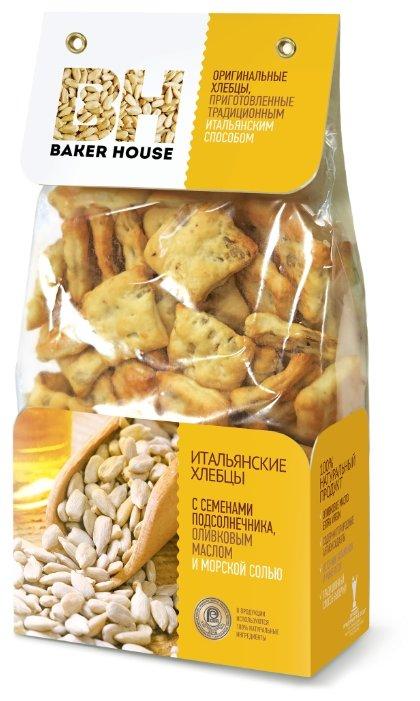 Хлебцы итальянские пшеничные BAKER HOUSE семенами подсолнечника, оливковым маслом и морской солью 250 г