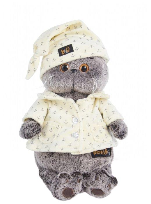 Мягкая игрушка Basik&Co Кот Басик в пижаме 19 см