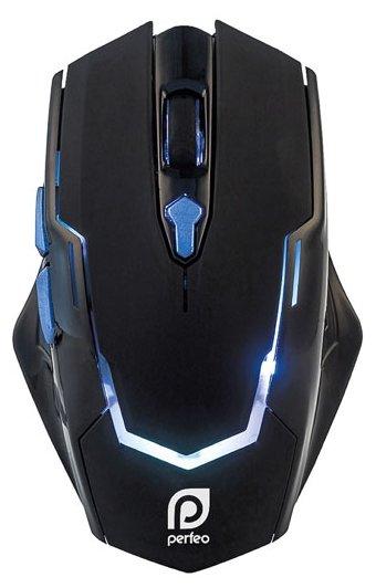 Мышь Perfeo PF-1731-GM STRAFE Black USB